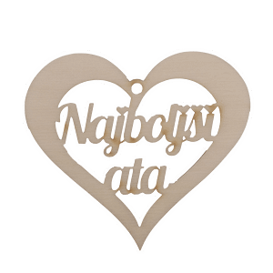 Figura srce najboljši ata