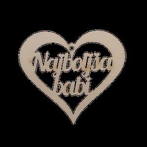 Figura srce najboljša babi