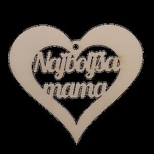 Figura srce najboljša mama