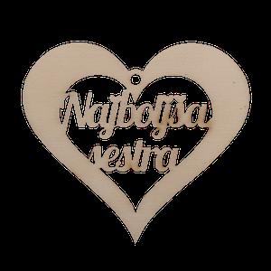 Figura srce najboljša sestra