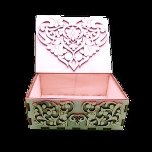 Okrasna škatla umetelno okrasje