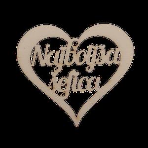Figura srce najboljša šefica